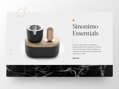 Product page hero simple style minimalism marble product ecommerce hero section top notch hero slider design ux uxdesign ui uidesign