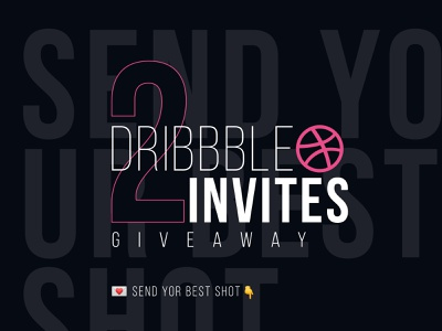 2 New Dribbble Invites! drafted draft uidesign pink 2 dribbble giveaway invite bebas neue black