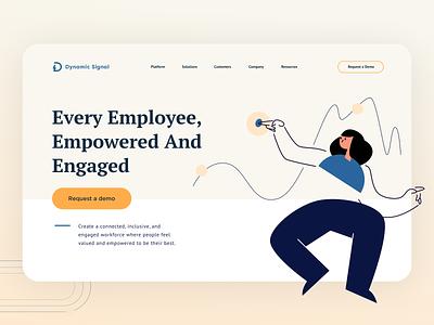 DS Brand exploration landing startup saas hero illustration branding uxdesign uidesign ui