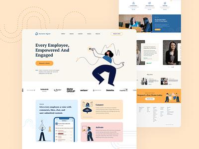 Dynamic Landing page startup saas site website web uxdesign ux ui uidesign