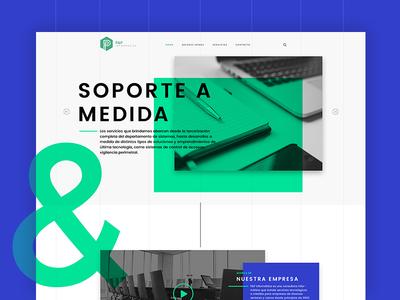 Support Site apple mac verde azul modern informatica tech green blue webdesign website site