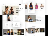 Sportwear ecommerce