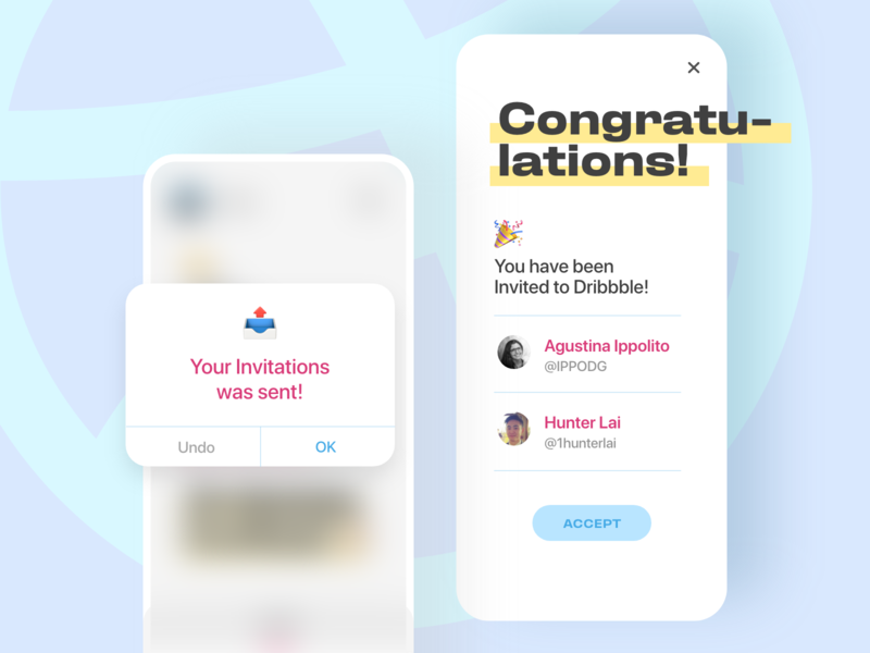 welcome to Dribbble! new users pastel ux ui uxdesign uidesign welcome dribbble invite congratulations congrat invitation