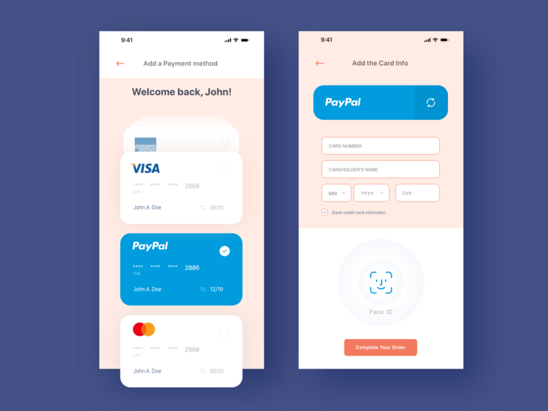 Face recognition payment uiux ui face recognition credit card card credit exploration