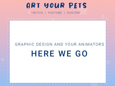 ARTYOURPETS IS COMING design vector streamer illustration logodesign graphicdesign emotestwitch emoteart badges art