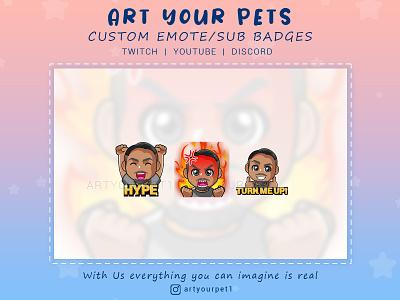 CUSTOM BUNDLE EMOTES graphicdesign emoteart emotestwitch 2d art