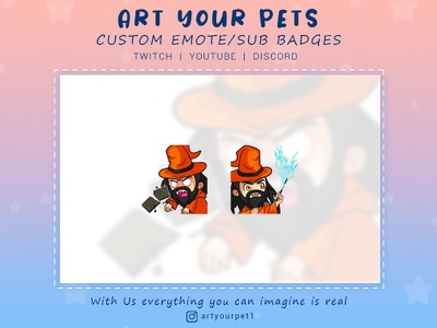 CUSTOM EMOTES/STICKERS FOR YOUR CHANNEL 2d emotestwitch graphicdesign art