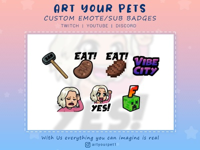 CUSTOM EMOTES graphic design logodesign illustration badges emoteart emotestwitch graphicdesign 2d art