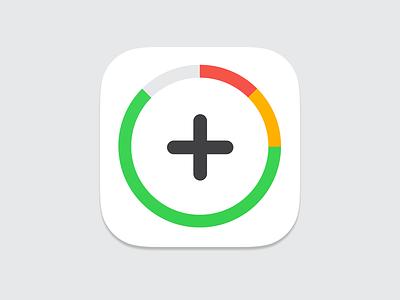 Full - App icon ios app icon iphone ipad apple plus goals modern clean white grey
