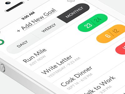 Full 2.0 - iOS App ios app iphone ipad ui ux interface clean modern goals product