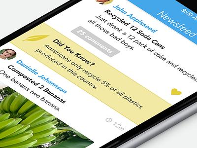 Sift App ui ux ios app interface newsfeed posts iphone ipad user interface user experience