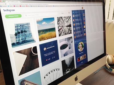 Instagram Redesign Web sketch social photos web instagram redesign ux interface design app ui