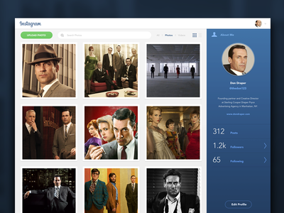 Instagram Redesign Web - Profile social photos web instagram redesign ux interface design app ui