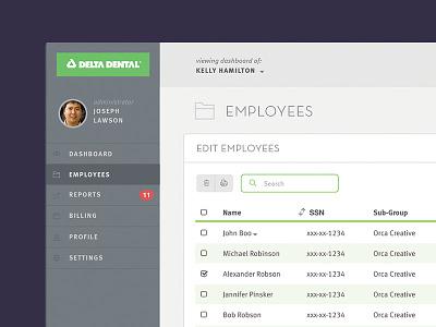 Dental Insurance Dashboard insurance interface web design dashboard ui design