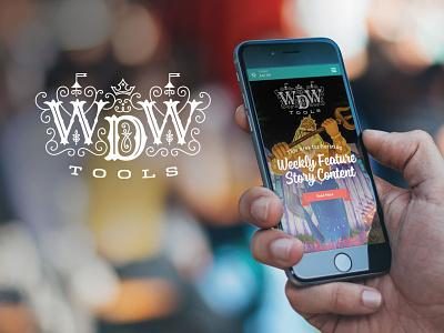 WDW Tools Logo rwd mobile startup disneyworld logo