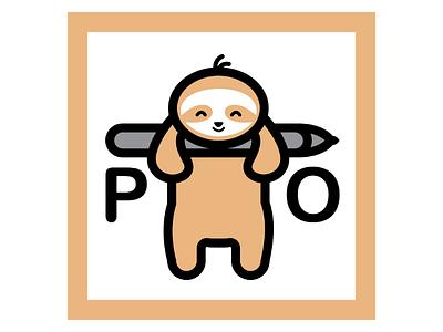 Sloth  logo for artist vector simple logodesign illustration flatart design logo sloth illustrator