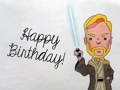A Star Wars birthday card