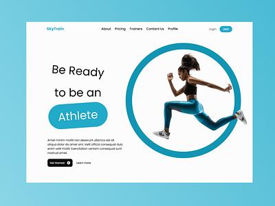 Workout website idea web design figma ui