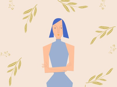 Look through cubism illustration design natural girl illustration cubism