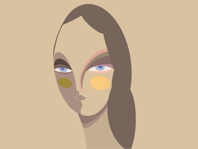 Beauty is in the eye of the beholder typography colorful icon vector logo branding app girl illustration design illustration
