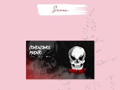 OFFLINE SCREEN design chibi twitch emotes illustration screen logo