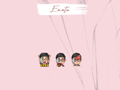 CUSTOM EMOTES design logo chibi twitch emotes vector emotes girl illustration twitch streamer