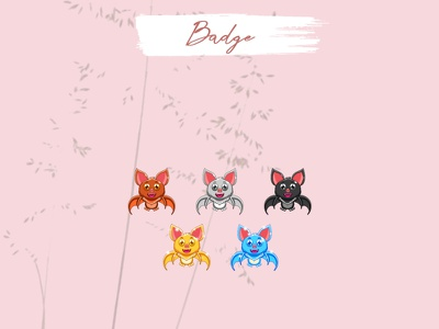 CUSTOM BADGES vector chibi twitch emotes girl badges emotes illustration twitch streamer