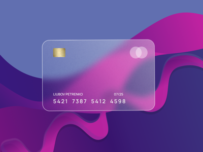 Glassmorphism Card Design figma figmadesign bank credit card online banking banking bank card glassmorphism blur money finance glass 3d clean web ui ui ux design card minimal