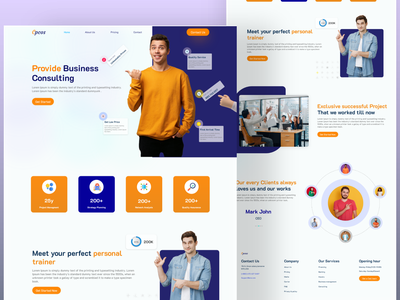 BusinessConsulting  landing page businessconsulting  landing page businessconsulting  landing page branding landing business website design website people graphic web ui graphic design design