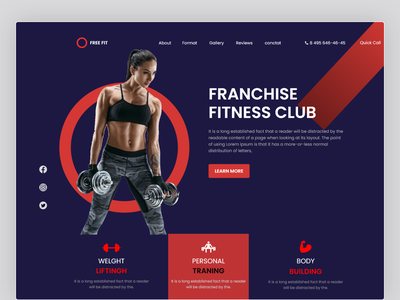 Landing page for Fitness Club Franchise website ui people graphic web graphic design design