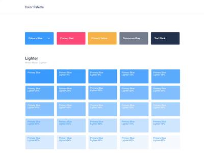Color Pallete webapp hex overlay lighten darker lighter primary designsystem tool pallete color
