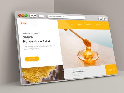 Natural Honey landing page landing page