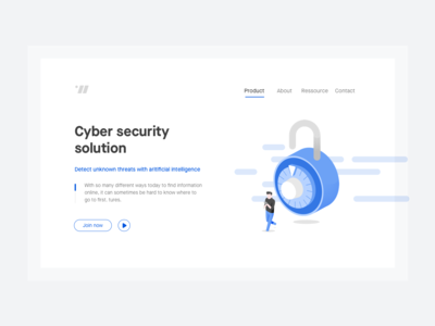 Cyber landing page concept