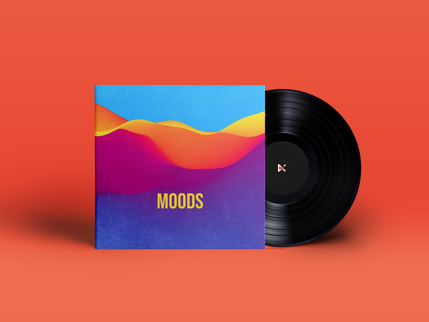 Moods design type typography vinyl colour visual concept artwork art music