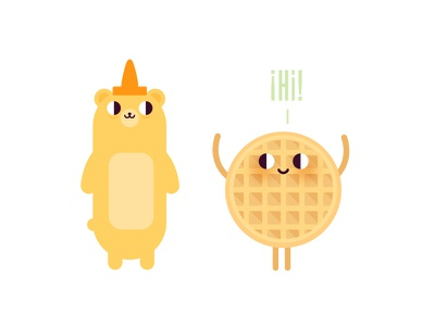 Honey honey breakfast honey waffle