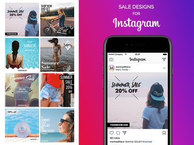 SALE Designs for Instagram - FREE type psd freebie free design summer fashion ads instagram
