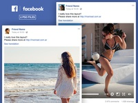 Facebook Post Mockup FREE PSD