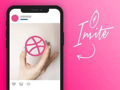 ONE Dribbble Invite!! nuevo invitacion player shot designer invitation dribbble invites invite