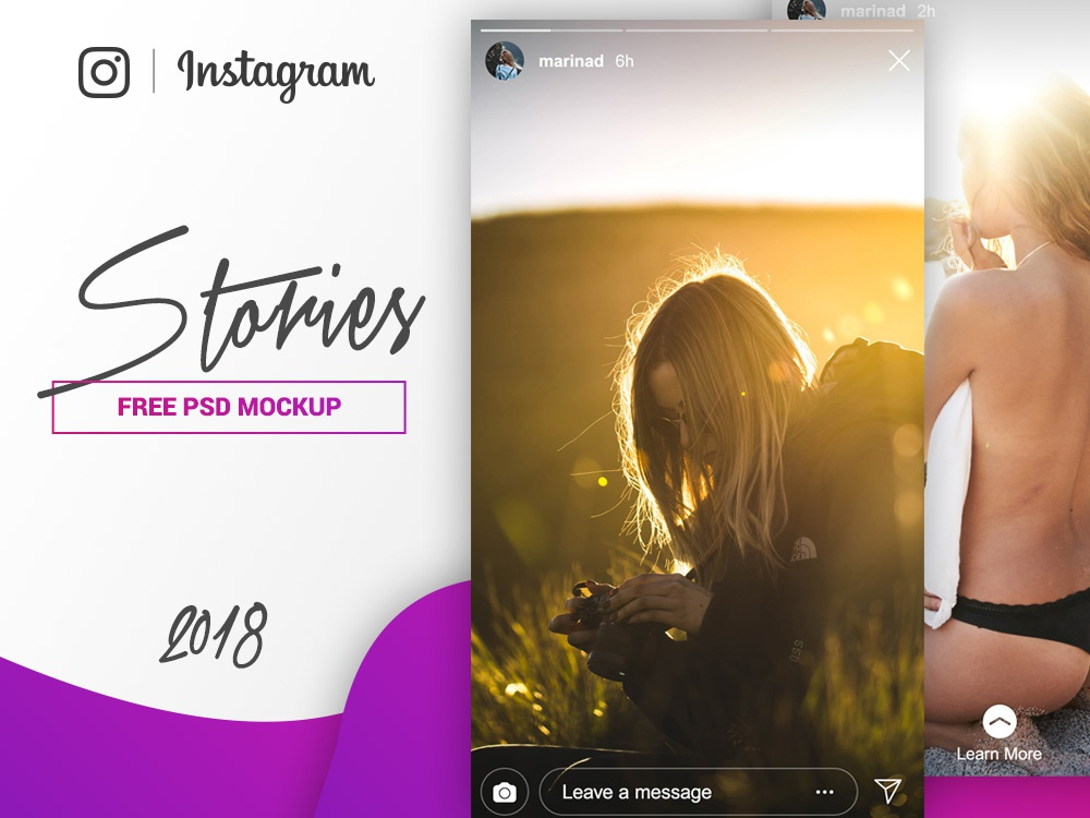 Instagram Stories Mockup - FREE PSD by Marina on Dribbble