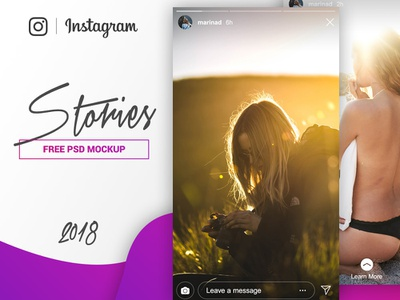 Instagram Stories Mockup - FREE PSD download freebie free social media ui story stories mockup app social instagram