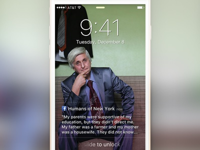 iPhone Visual Lock Screen Notification apple ios facebook iphone notification lockscreen