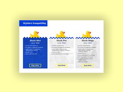 iDuck 3/3 - Price table webdesign web ux uidesign ui design