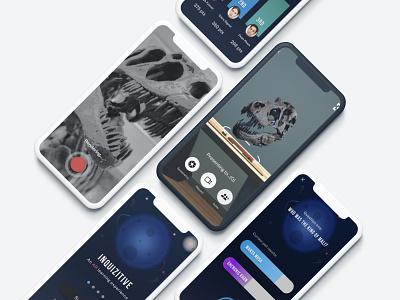 Inquizitive AR app mobile design ux mobile app augmented reality mobile mobile app design mobile ui figma design uxdesign education app