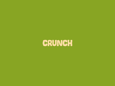 Crunch - Logotype #dailylogochallenge icon minimal logotype logo designer design branding brand identity brand design brand