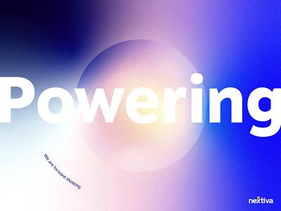 Powering Human Connection geometric branding color gradient graphic design typography brand design