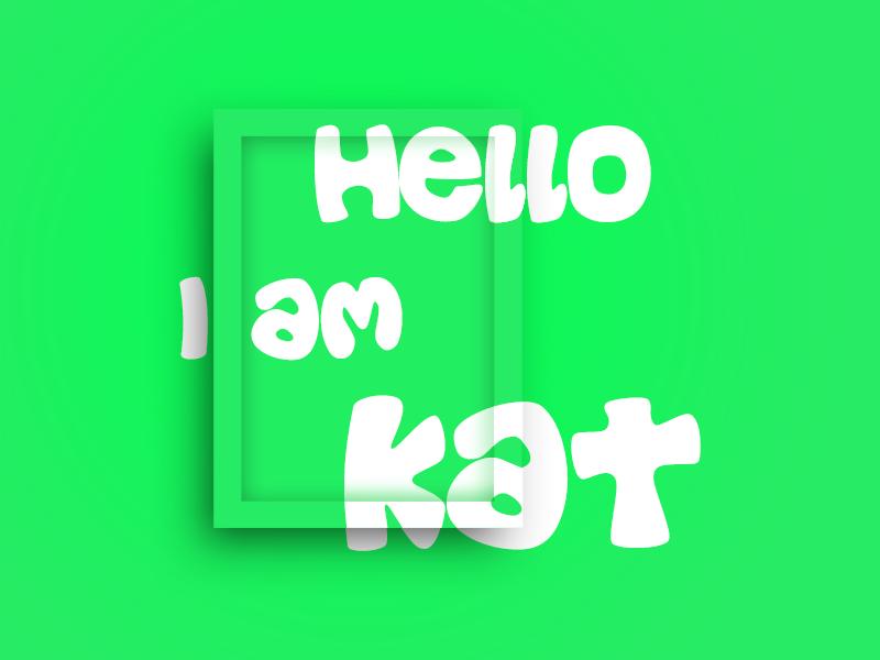 Board experiement overlay shadow board mockup green kat typography