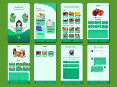 Diet Healthy food ux ui design app diet