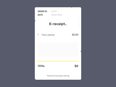 Daily UI #017 paper sketch dailyui email receipt