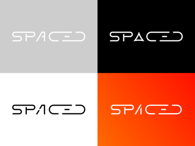 SPACED #2 typography brand logo spacedchallenge