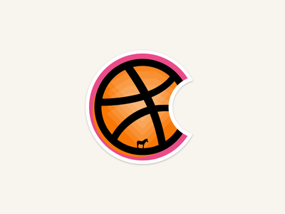 Dribbble is diamond cookie planet basketball window shine strange pink eclipse pizza sketch apple stickermule
